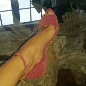 Lanvin rose heels